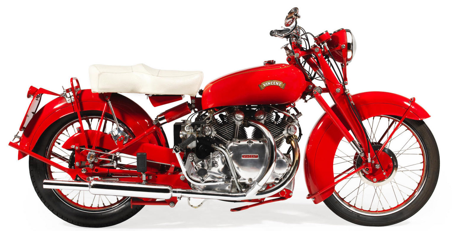 1950 Vincent 998cc 'Chinese Red' Touring Rapide