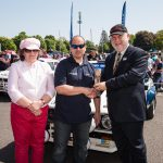 Simply Ford People's Choice winners Rita and Martin Lewis with Beaulieu MD Russell Bowman
