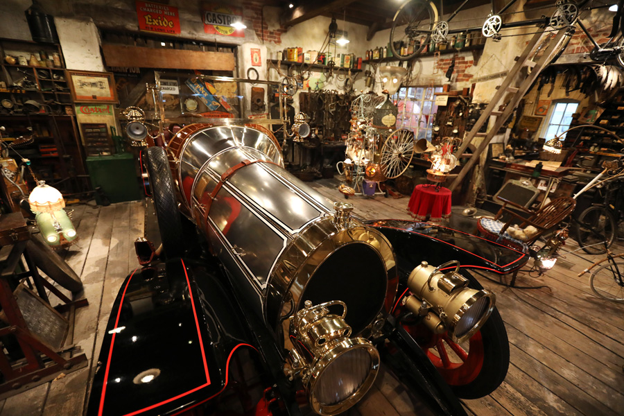 Chitty in Coggins garage
