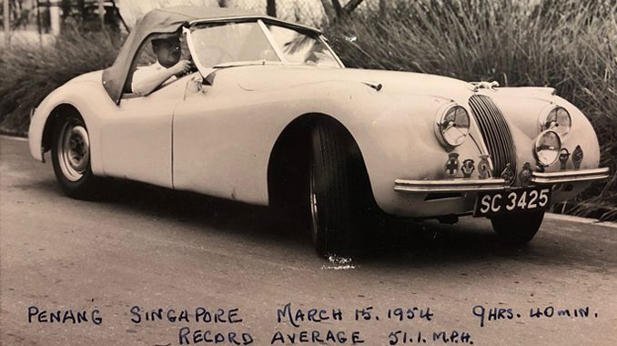 Freddie and the Jaguar XK120